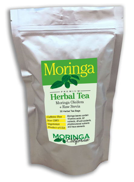Moringa Tea with Raw Stevia (30 herbal bags)