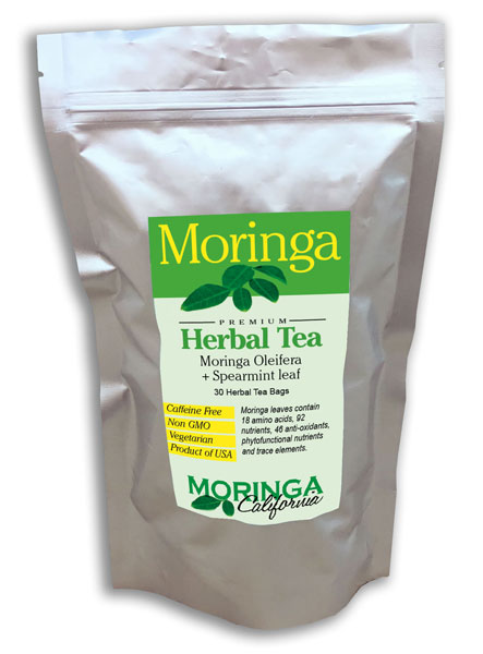Moringa Tea with Spearmint (30 herbal bags)
