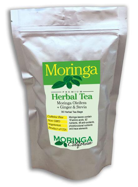 Moringa Tea with Ginger and Stevia (30 herbal bags)