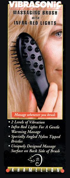 Vibrasonic Massaging Brush with Infra-red Lights