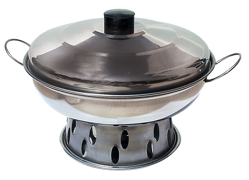 """Stainless Steel Hot Pot: 10"""""""