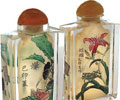Inside Painted Snuff Bottle: Grasses and Insects