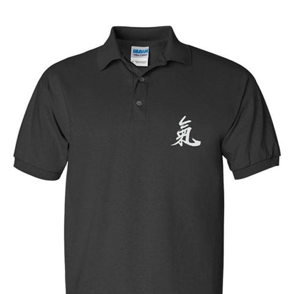 """Qi"" (Ch'i) Calligraphy Sport Shirts"