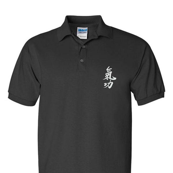 """Qigong"" (Ch'i Kung) Calligraphy Sport Shirts"