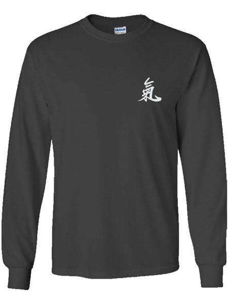 """Qi"" (Ch'i) Calligraphy T-Shirt (Long Sleeve)"